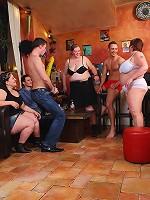 Witness a wild BBW orgy with sluts