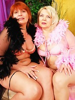 Horny plump MILFs spend some time pressing the flesh!