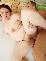 Young chubby girl gets undressed