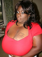 Big tits Simone sexy in red dress