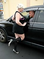 Big dicked pornstar runs into hot-blonde, missile titted Tiffany Blake by chance and pounds her