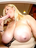 Busty BBW gets her snatch read for some intense hardcore pounding