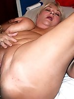 Shugar gives her client the VIP treatment by rubbing her massive tits on his back and throbbing cock